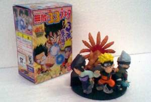 Naruto - One Piece - Dragon Ball  3in1 Figure