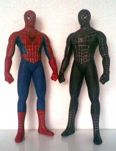 Jual Spiderman & Balck Spiderman Vinyl Action Figure