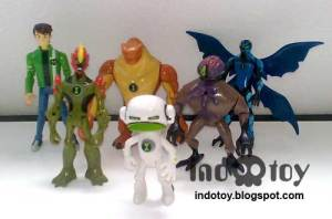 Jual Ben10 isi 10 action Figure