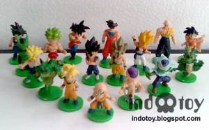 Jual Mini Dragon ball Figure isi 17