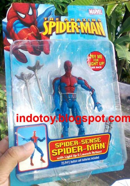 Jual Amazing Spiderman Action Figure Spider-sense Spiderman with Light Up G&  Launch Action