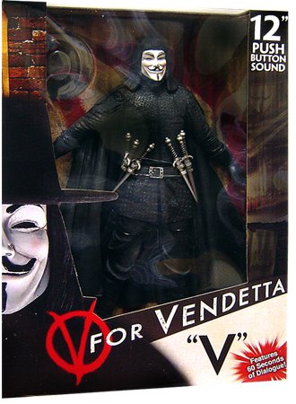 Jual V for Vendeta 12 inch Action Figure