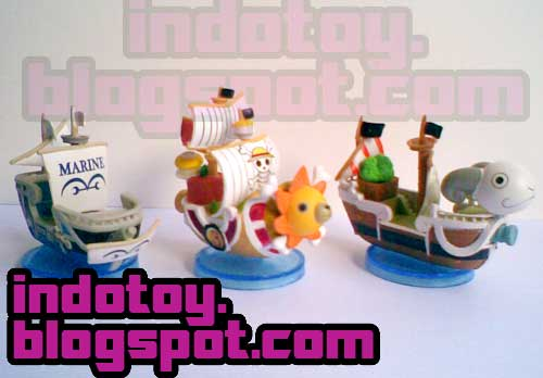 Jual Mini One Piece 3 in 1 Ship Figure