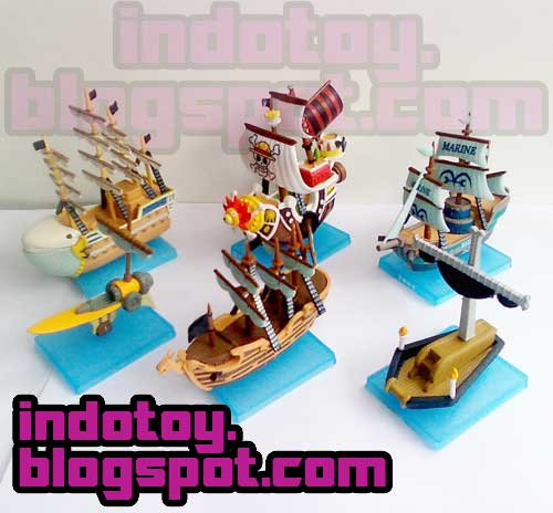 Jual One Piece SuperShip Collection Thousand Sunny, Marine Warship, D,Ace, Shank Red Hair, Whitebeard MobyDick