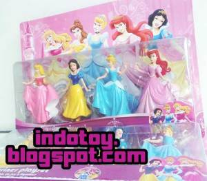 Jual Disney Princess Pack Figure1 set terdiri dari 4 character Princess Figure