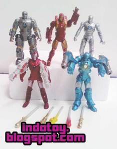 Jual Ironman Launcher Figure isi 5