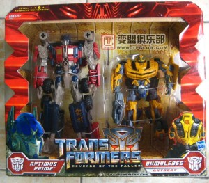 Jual Transformer Movie Optimus Prime & Bummble Bee - Revenge of Fallen Figure