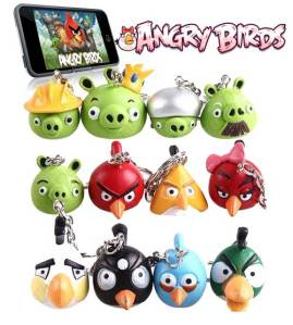>Jual Angry Birds (i Phone Game) Key Chain
