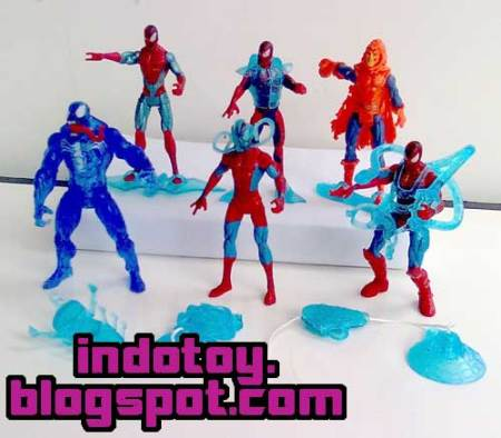 Jual Mini Spiderman Figure with Equipment