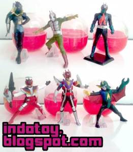 Jual Kamen Rider Gashapon isi 6 Action Figure