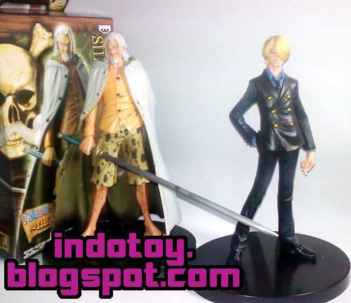 Jual One Piece Figure The Grandline Men DX 6  Silver Rayleigh, Sanji