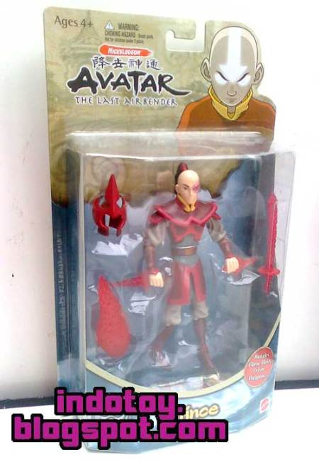 Jual Avatar Last Air Bender Action Figure : Zuko Fire Prince