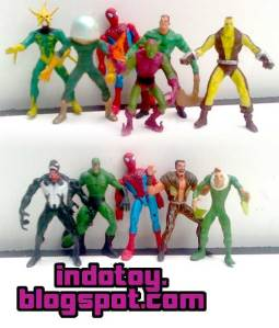 Jual Spiderman and Villain  Mini Figure indotoy toko online