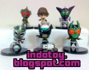 Jual Kamen Rider Chibi Figure isi 6