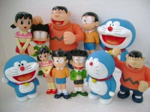 Doraemon and Friend Figure